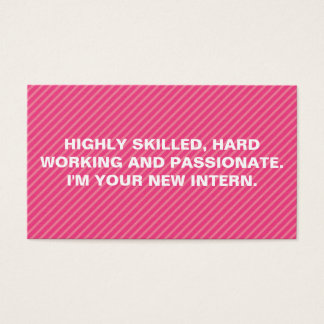 Bold Quote Stripes Business Card