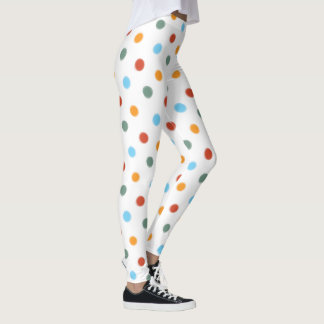 Bold Rainbow Polka Dot Leggings
