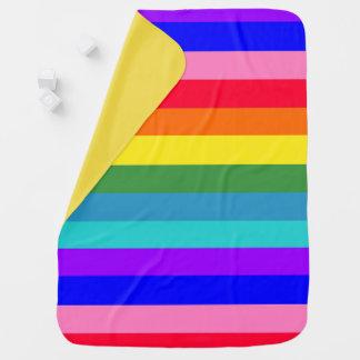 Bold Rainbow Stripes baby blanket