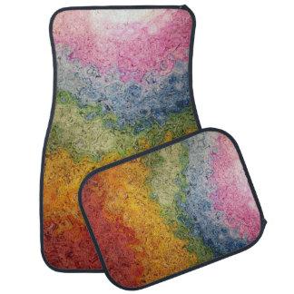 Bold Rainbow Stripes Colorful Energy Floor Mat