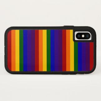 Bold Rainbow Stripes iPhone X Case