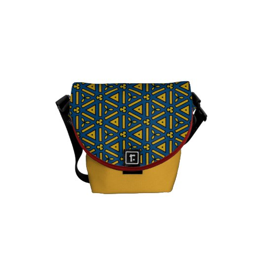 Bold Red Blue Yellow Geometric Messenger Bag