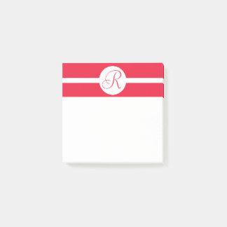 Bold Red Circle Monogram Post-it Notes