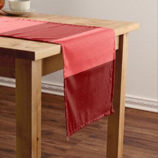Bold Red Color Block Stripes Pattern Short Table Runner