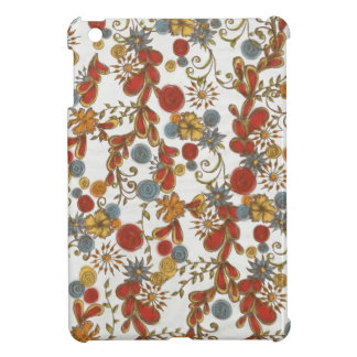 Bold Red Flowers Vines iPad Mini Case
