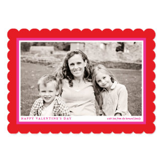 "Bold Red Frame Valentine's Day Flat Photo Card 5"" X 7"" Invitation Card"