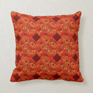 Bold red pepper fun throw pillow