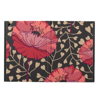 Bold Red Poppy Floral Flower Print iPad Air Case