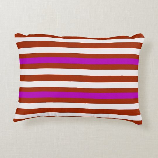 Bold Red Purple Accent Pillow