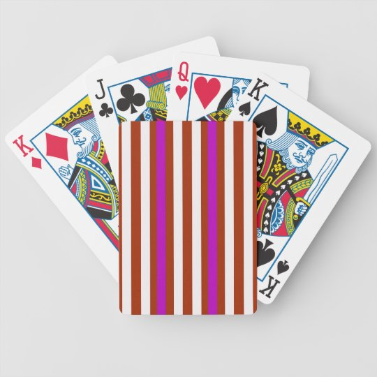 Bold Red Purple Bicycle Playing Cards