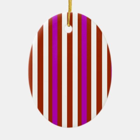 Bold Red Purple Ceramic Ornament