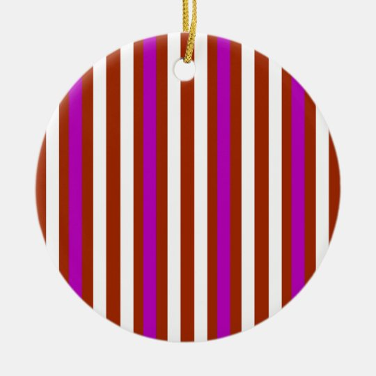 Bold Red Purple Ceramic Ornament