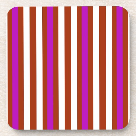 Bold Red Purple Coaster