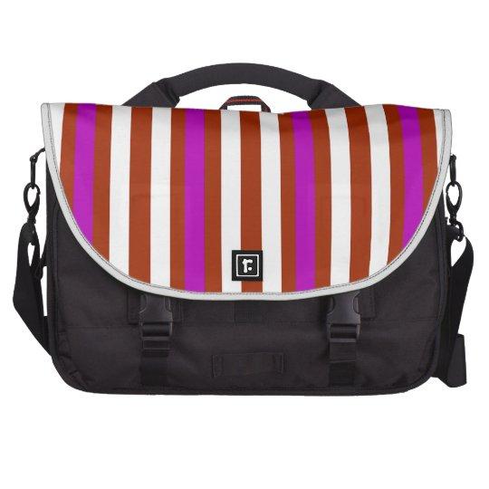 Bold Red Purple Computer Bag