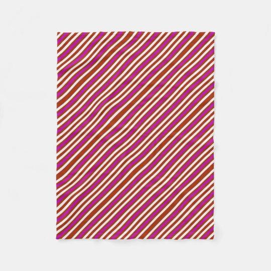 Bold Red Purple Fleece Blanket