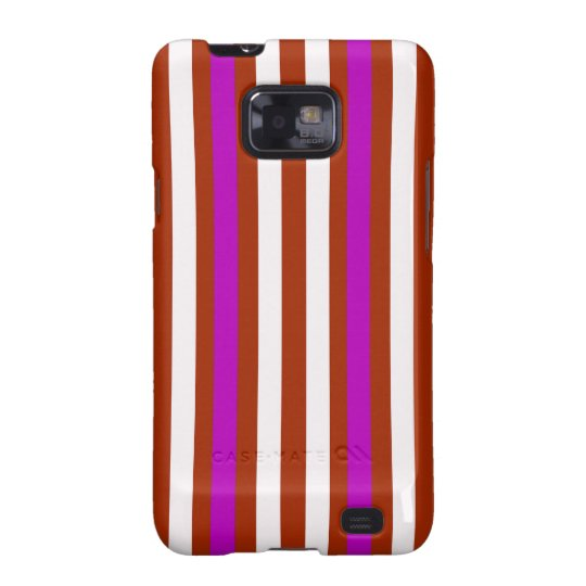Bold Red Purple Galaxy SII Cases