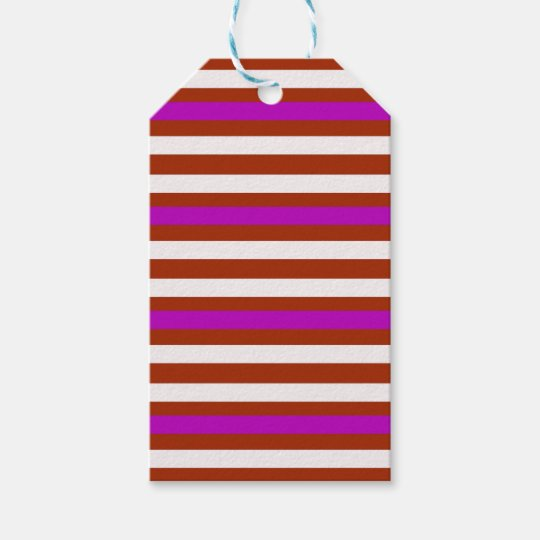 Bold Red Purple Gift Tags