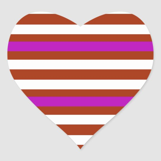 Bold Red Purple Heart Sticker