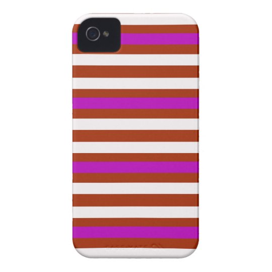 Bold Red Purple iPhone 4 Case-Mate Cases