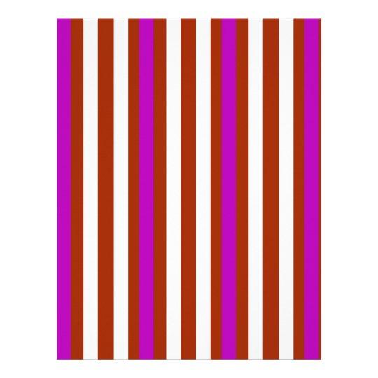 Bold Red Purple Letterhead