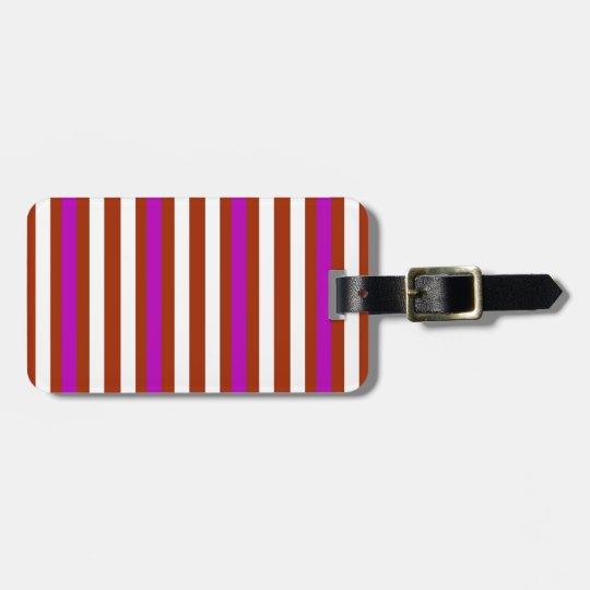 Bold Red Purple Luggage Tag