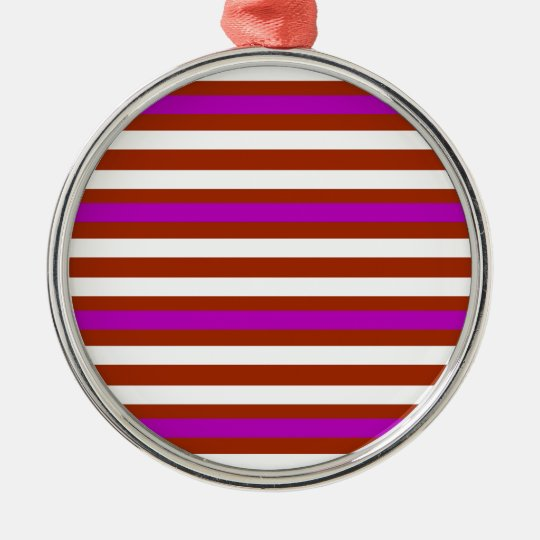 Bold Red Purple Metal Ornament