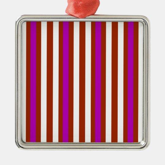 Bold Red Purple Metal Ornament