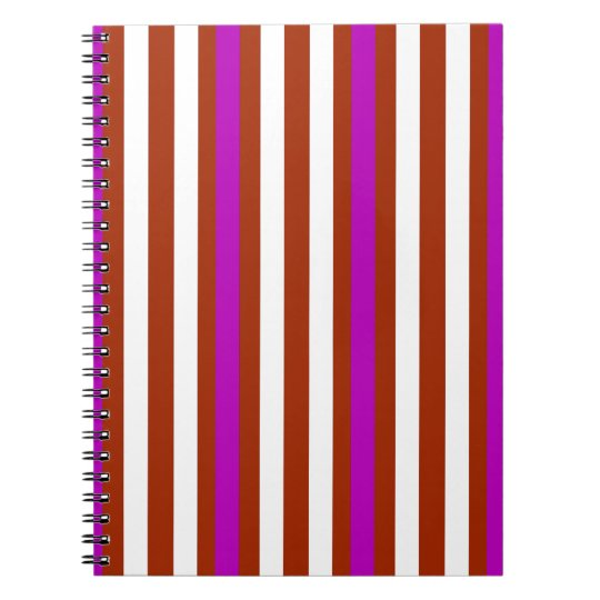 Bold Red Purple Notebook