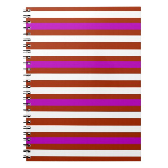 Bold Red Purple Notebooks