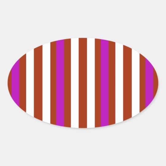 Bold Red Purple Oval Sticker