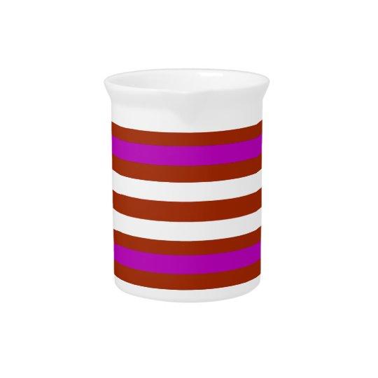 Bold Red Purple Pitcher