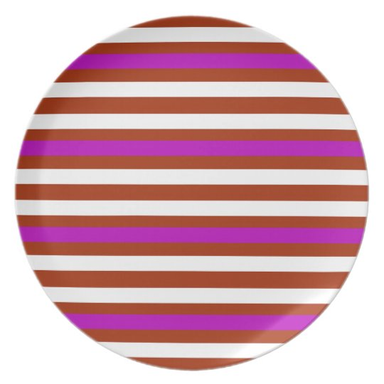 Bold Red Purple Plate