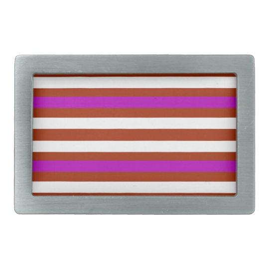 Bold Red Purple Rectangular Belt Buckles