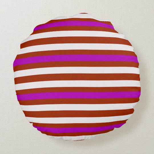 Bold Red Purple Round Pillow