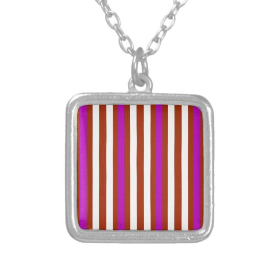 Bold Red Purple Silver Plated Necklace