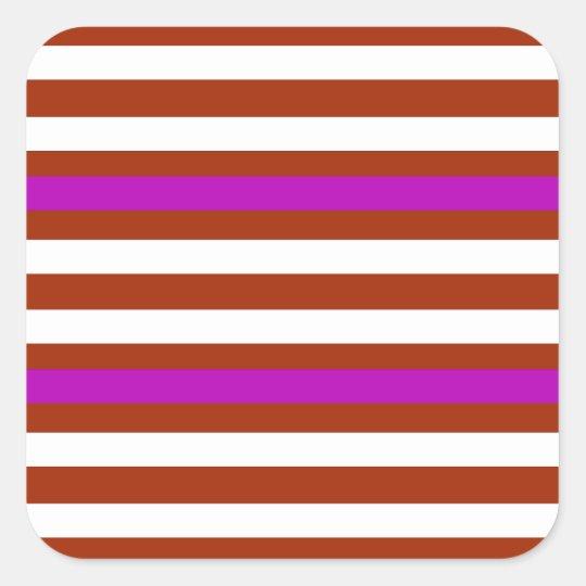 Bold Red Purple Square Sticker