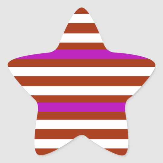 Bold Red Purple Star Sticker