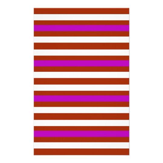 Bold Red Purple Stationery