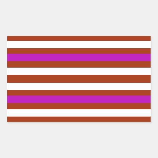 Bold Red Purple Sticker