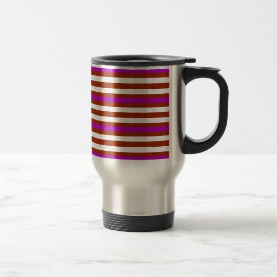 Bold Red Purple Travel Mug