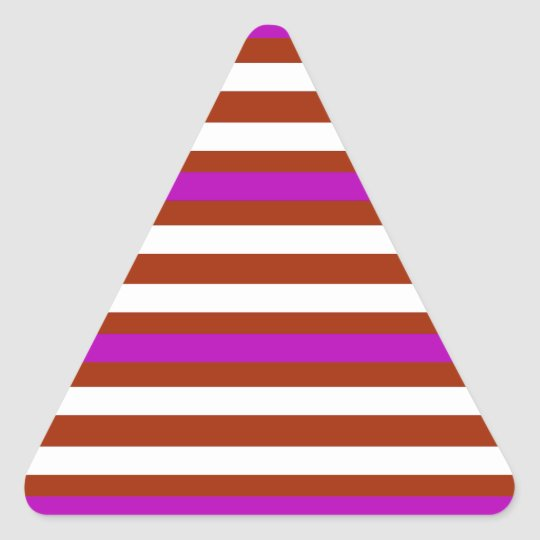 Bold Red Purple Triangle Sticker