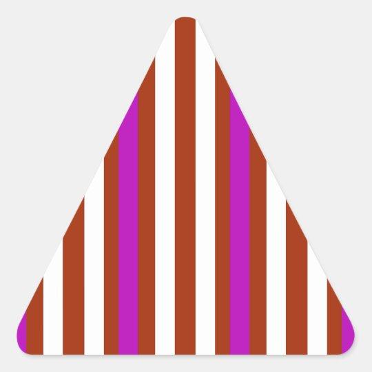 Bold Red Purple Triangle Sticker