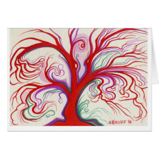 Bold Red Tree Card