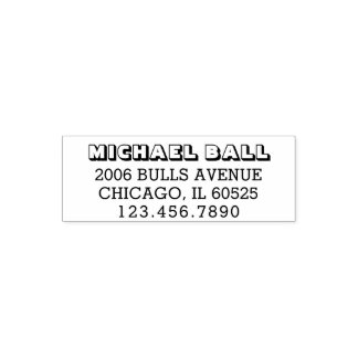 Bold Return Address | Custom Text 4 Lines Phone Self-inking Stamp
