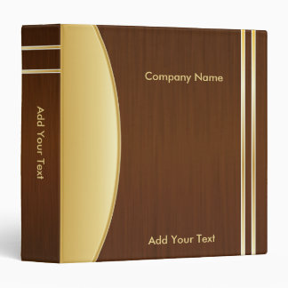 Bold Rich Brown and Gold Company Design Binder