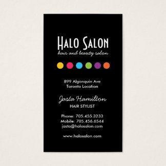 Bold Salon Appointment Card - Click Customize it!