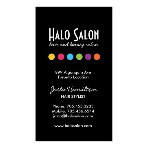 Bold Salon Appointment Card - Click Customize it! Business Cards