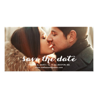 Bold Script | Photo Save the Date Photo Card