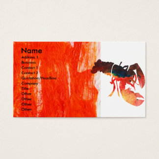 Bold Sea Life  Lobster Design Business Card