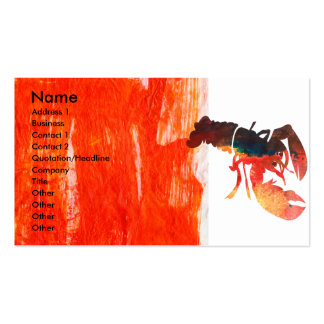 Bold Sea Life  Lobster Design Pack Of Standard Business Cards